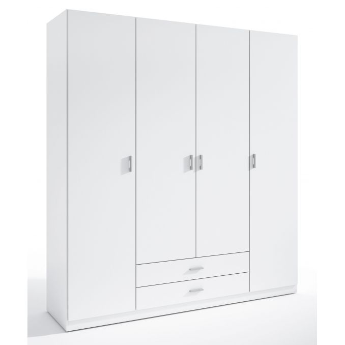 Armario 4 puertas Abenuj blanco