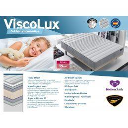 Colchón viscoelástico ViscoLux 135x190 Altura 19 cm.