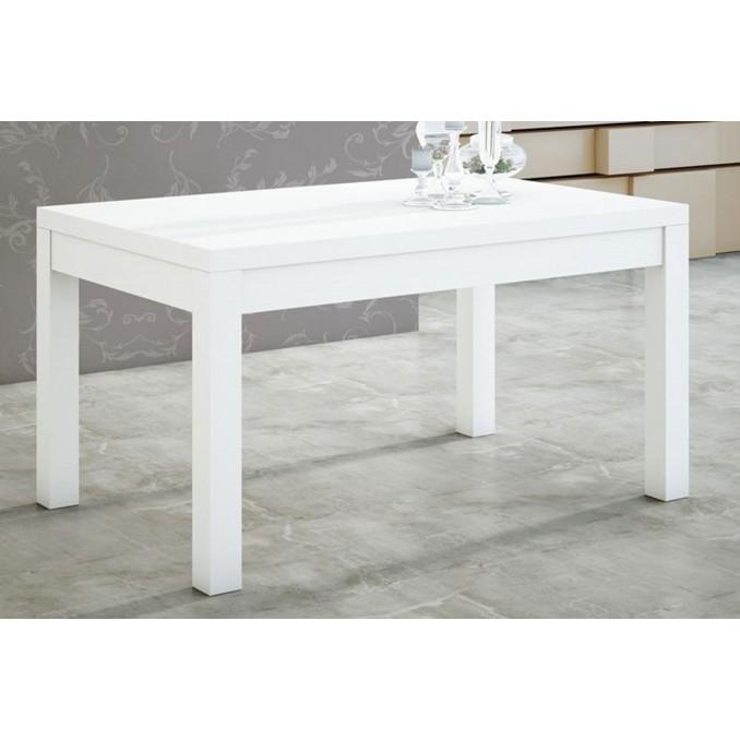 Mesa comedor blanco extensible a 190 cm.