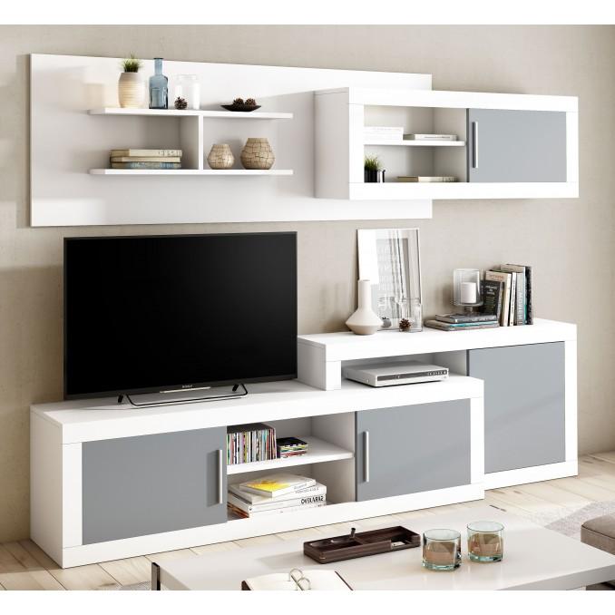Mueble de salón Málaga 245 cm.