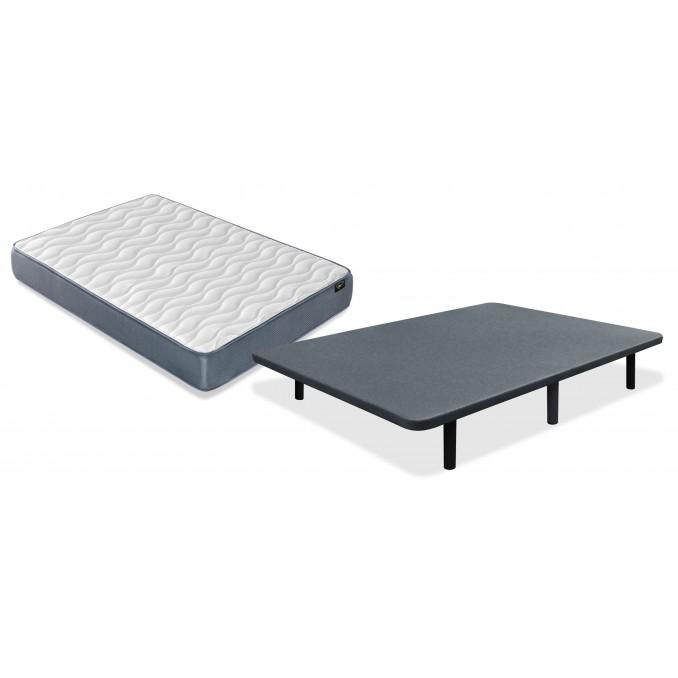 Conjunto colchón y base 90x190 con juego patas Gratis