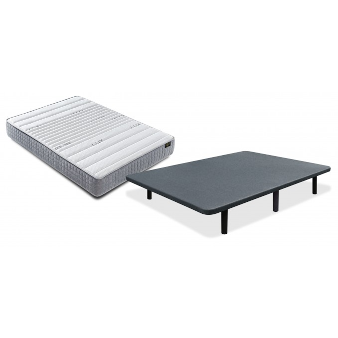 Conjunto colchón Viscolux y base 90x190 con juego patas Gratis