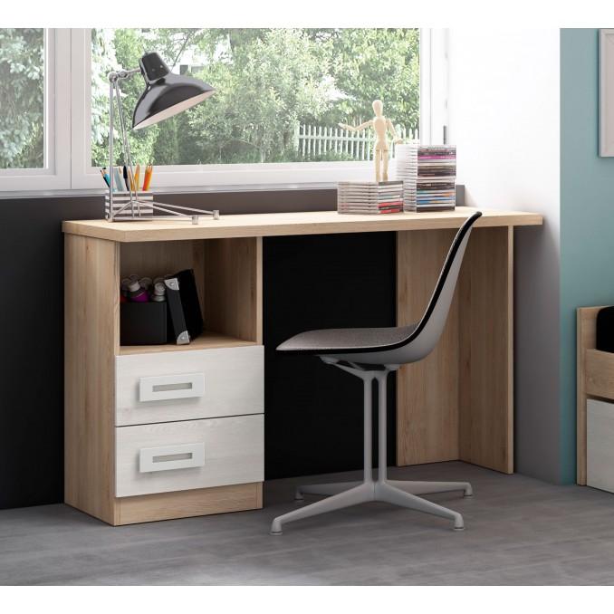 Mesa de estudio colores pino/blanco